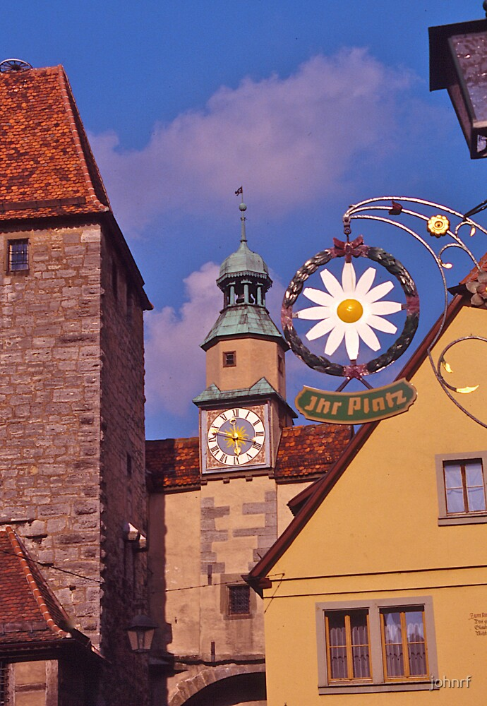 Streetscape, Rothenburg ob der Tauber, Germany. by johnrf