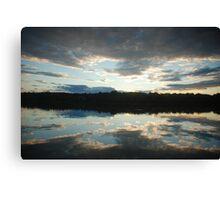 Sunset in South Thomaston Canvas Print