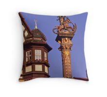 Streetscape, Rothenburg ob der Tauber, Germany. Throw Pillow