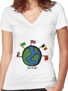 Drawing Day, June 4th, 2011 Women's Fitted V-Neck T-Shirt