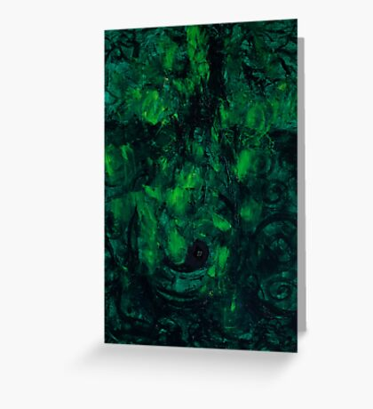 Deep Green Thoughts  Greeting Card