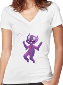Sableye rawrs Women's Fitted V-Neck T-Shirt