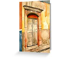 San Miguel Door Greeting Card