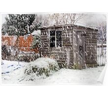 Shed in the Snow Poster