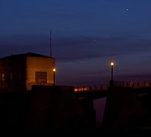 Dam at Night by PeterBreaux
