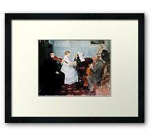 Jules Alexandre Grün Chamber Music Concert Framed Print