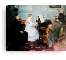 Jules Alexandre Grün Chamber Music Concert Canvas Print