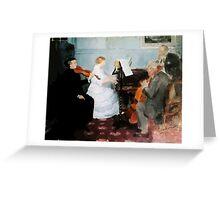 Jules Alexandre Grün Chamber Music Concert Greeting Card