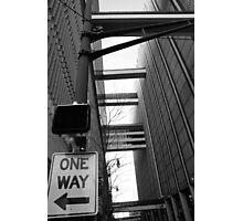 One Way Atlanta Skyscraper Canyon Photographic Print