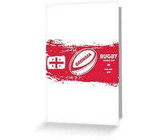 Georgia Rugby World Cup Greeting Card
