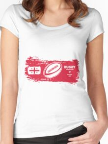 Georgia Rugby World Cup Women's Fitted Scoop T-Shirt