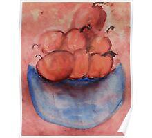 Bowl of Fruit 2, Watercolor Poster