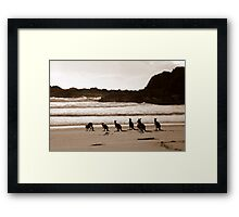 Day out at the Beach Framed Print