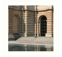 Lille, France - Reflective Lunch Art Print