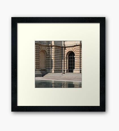 Lille, France - Reflective Lunch Framed Print