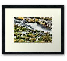 Sherar Falls Deschutes River Oregon Framed Print