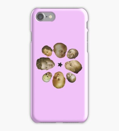Ugly renaissance babies - pink iPhone Case/Skin