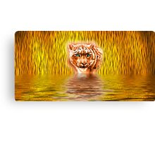 Tiger Upon Reflection Canvas Print