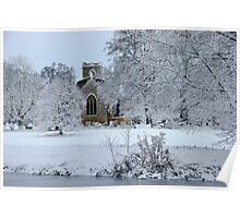 ~ All Saints' Church in the snow Poster