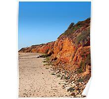 Red Cliffs at Moana Beach Poster