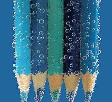 blue bubbles.. by Michelle McMahon