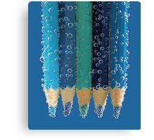 blue bubbles.. Canvas Print