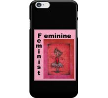 feminist cat art by Anglieclementine iPhone Case/Skin