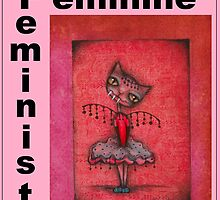 feminist cat art by Anglieclementine by Angieclementine