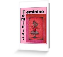 feminist cat art by Anglieclementine Greeting Card