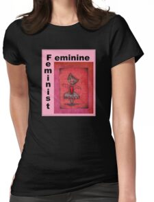 feminist cat art by Anglieclementine Womens Fitted T-Shirt