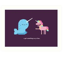 Norwall and the Jackass Unicorn Art Print