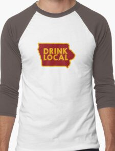 Iowa Drink Local Beer Cyclone Colors Men's Baseball ¾ T-Shirt