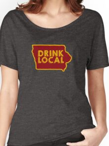 Iowa Drink Local Beer Cyclone Colors Women's Relaxed Fit T-Shirt
