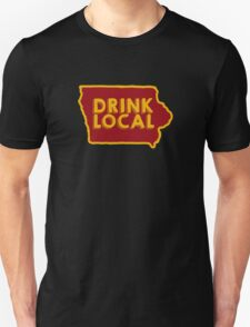 Iowa Drink Local Beer Cyclone Colors T-Shirt