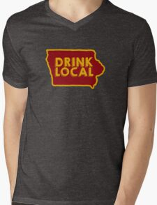 Iowa Drink Local Beer Cyclone Colors Mens V-Neck T-Shirt