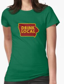 Iowa Drink Local Beer Cyclone Colors Womens Fitted T-Shirt