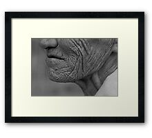 unknown woman 7 Framed Print