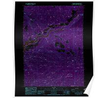 USGS Topo Map Oregon Cascade Gorge 279284 1988 24000 Inverted Poster