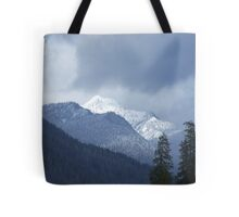 Snow in the Olympics Tote Bag