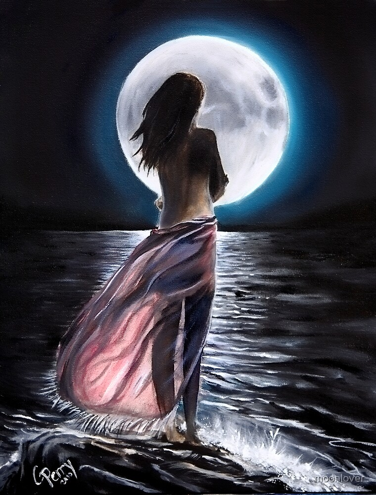 'Moon's Song of Sorrow, Song of Love'  (a collab with Chris Perry ~ art & poetry) by moonlover