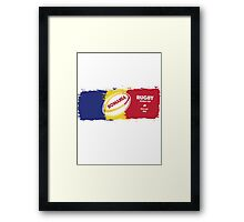 Romania Rugby World Cup Framed Print