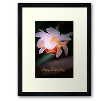 Happy Mother's Day card with daffodil Framed Print