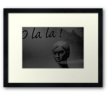 unknown woman 3 Framed Print