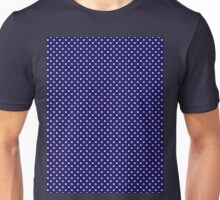 Polkadots Blue and White Unisex T-Shirt