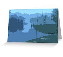 Lake in the Morning Fog Greeting Card