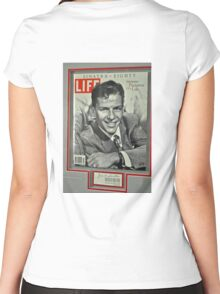 FRANK SINATRA LIFE COVER  Women's Fitted Scoop T-Shirt