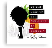 "Jeffrey Barnes—""Knowledge is Powder"" (Chuck TV Show) Canvas Print"