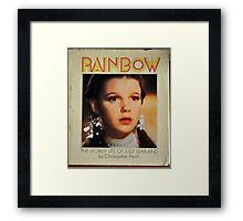 JUDY GARLAND OVER THE RAINBOW Framed Print
