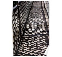 Suspended Bridge shadow Patterns Poster