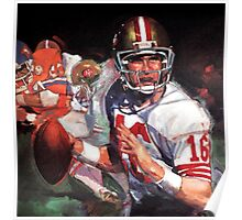 JOE MONTANA SAN FRANCISCO #16 Poster